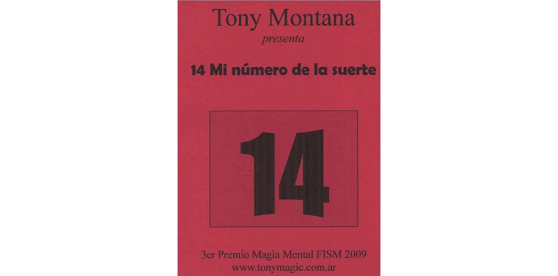 14 Mi Numero de la Suerte by Tony Montana